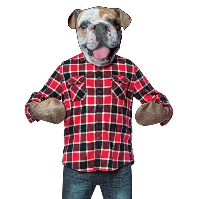 Bull Dog Headwith Paws Costume