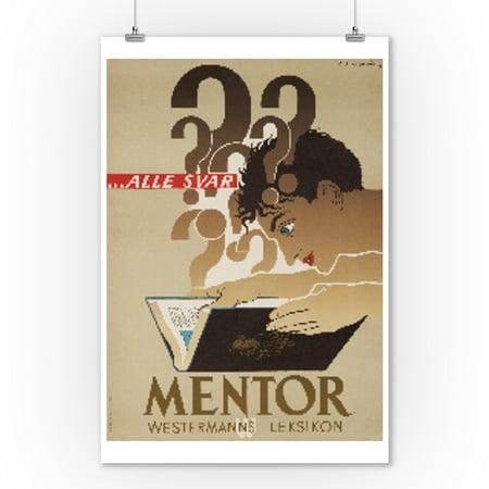 Mentor Vintage Poster (artist: Cassandre) Denmark c. 1949 (9x12 Art Print, Wall Decor Travel Poster) ()