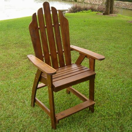 Highland Adirondack Wood Bar Chair (Set of - Adirondack Bear Chair