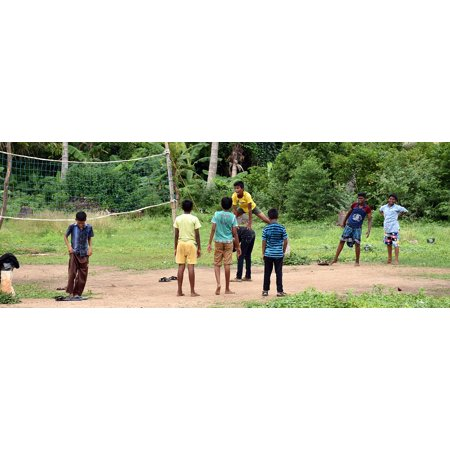 Canvas Print Pachakudirai Kids Village Country Game Rural Stretched Canvas 10 x 14