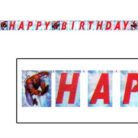 The Amazing Spider-Man Happy Birthday Banner (1ct)