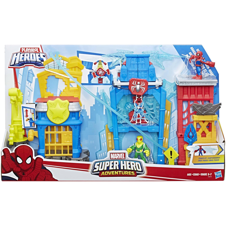 Playskool Heroes Marvel Super Hero Adventures Spider-Man Web-Quarters by Super Hero Adventures