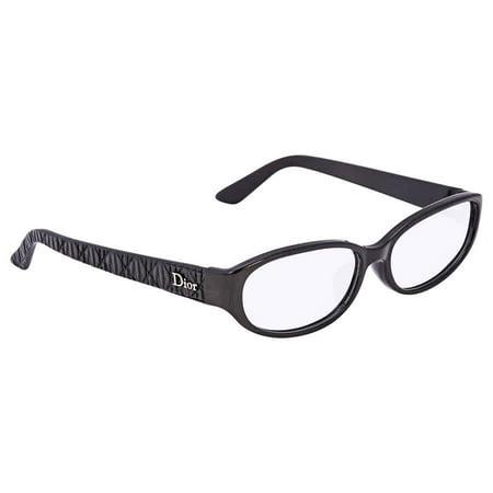 DIOR Shiny Black Matte Ladies Oval Eyeglasses CD7069J0BIL54