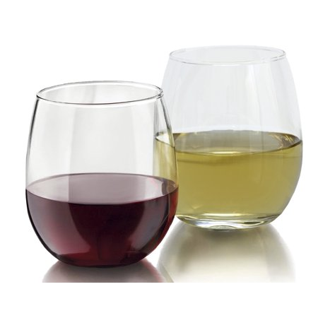 Shattered Glass Pieces (Royal 4-Piece Stemless Wine Glass Set, Elongated and Shatter-Resistant Glass,)