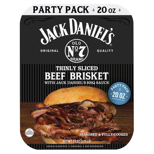 Jack Daniel's Thinly Sliced Beef Brisket Party Pack, 20 oz