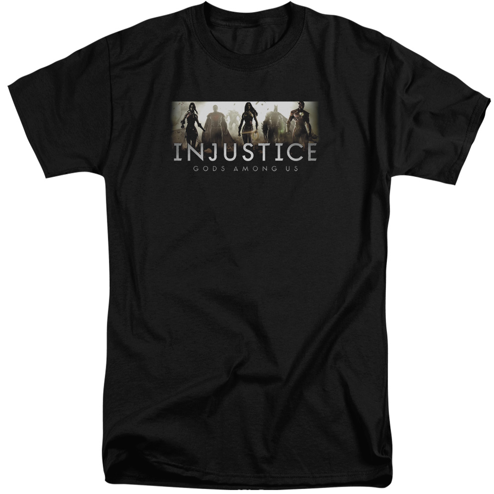 Injustice Gods Among Us Logo Mens Big and Tall Shirt