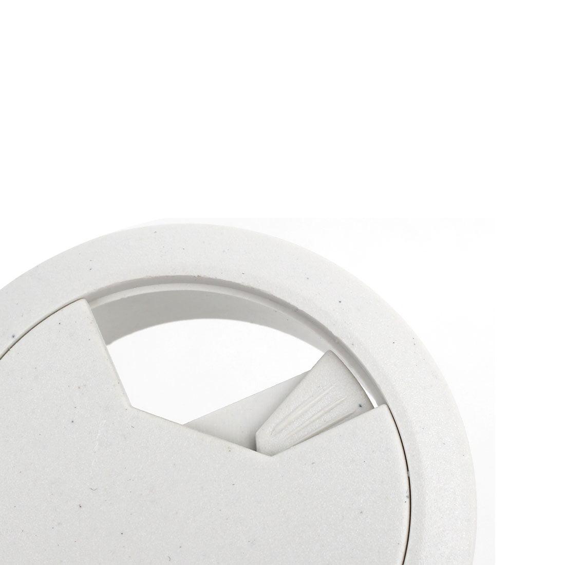 Ordinateur Bureau Plastique Rond illet Cable Filaire Couvre-trou Blanc 50mm Diamètre 10pcs - image 2 de 3
