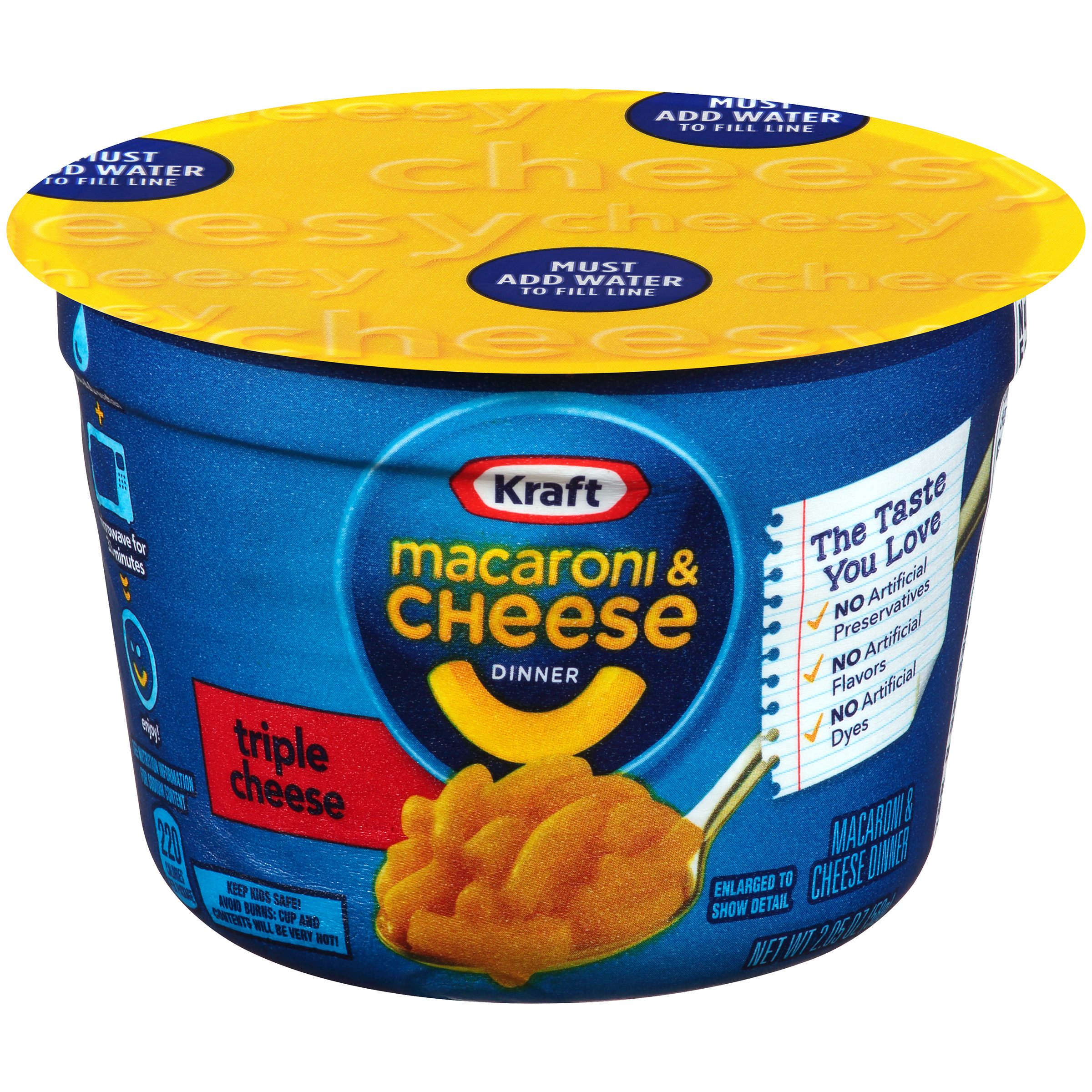 Kraft Triple Cheese Macaroni Dinner 2 05 Oz Microcup