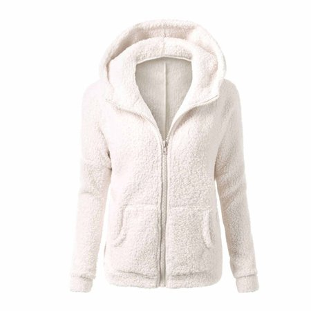 Women Fleece Jacket,Dosmart Womens Faux Fur Coat,Soft Wool Sweater ...
