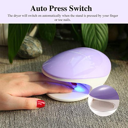 TOUCHBeauty TB-1439 2 in 1 UV Light & Air Nail Dryer for Regular and Gel  Nail Polish, 5 Curing Lamp, Powerful Fan Drying