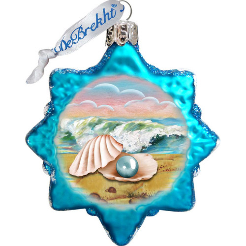 GDeBrekht 775485 Pearl Shell Glass Ornament
