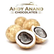 Andy Anand White Chocolate Crème Brulee Cordials, Gift Boxed & Greeting Card Mothers Fathers day Birthday Valentine Christmas (1 lbs)