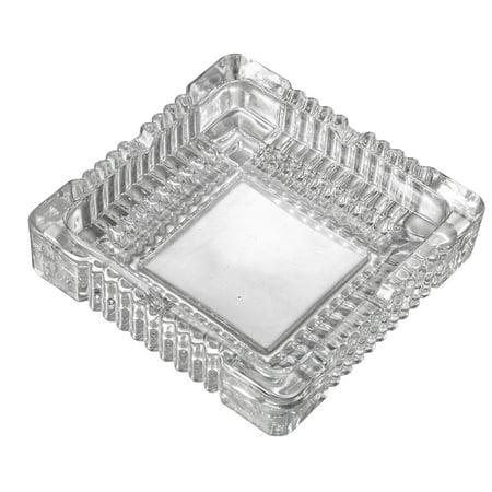 Lead Crystal Glass Ashtray - Visol  Akiro Square Glass Ashtray