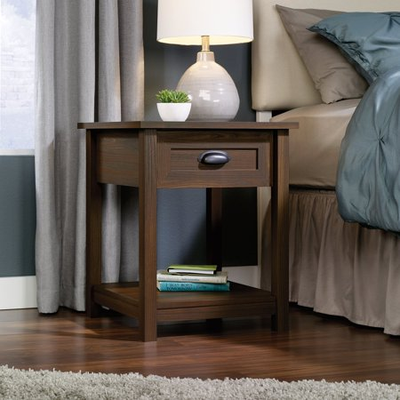 County Line 1 Drawer Nightstand   Rum Walnut
