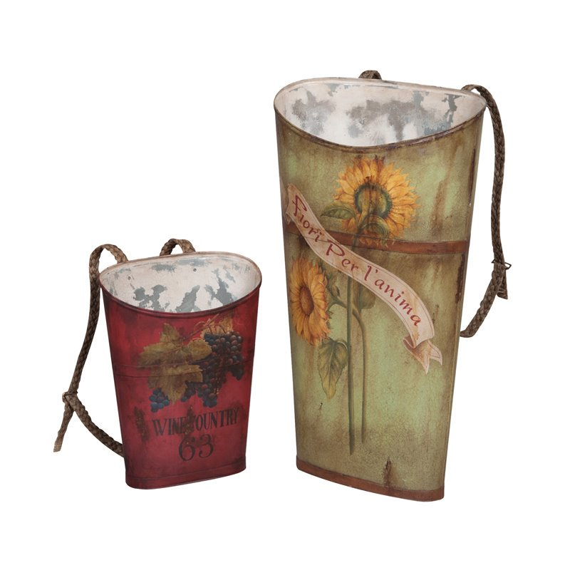 GuildMaster 2 Piece Tin Wine Basket Set