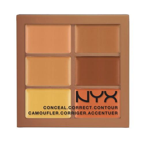 (3 Pack) NYX Conceal, Correct, Contour Palette - Deep