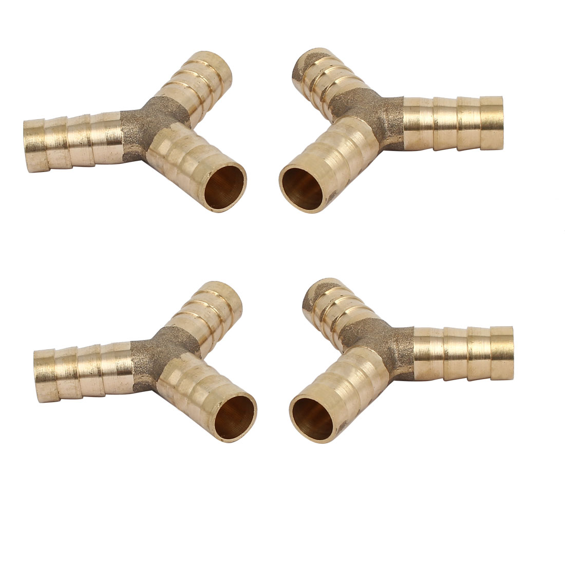Unique Bargains10mm Y Shaped 3 Way Hose Barb Fittings Pipe Tube Connecting Connectors 4pcs