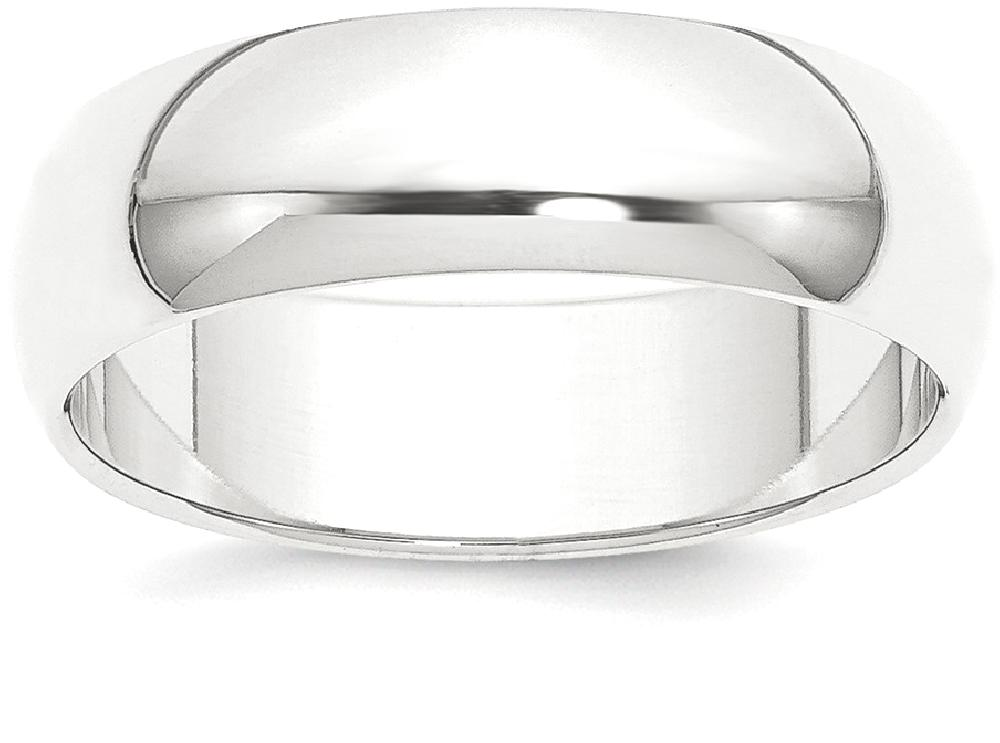 IceCarats Platinum 8mm Half Round Featherweight Wedding Ring Band Size 11.50 Classic Domed by
