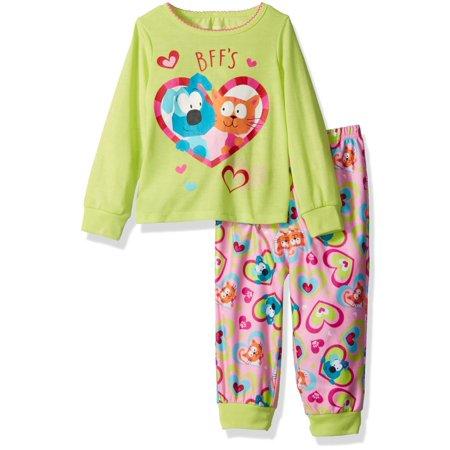 Komar Kids Girls' Best Friends 2pc Sleepwear Set