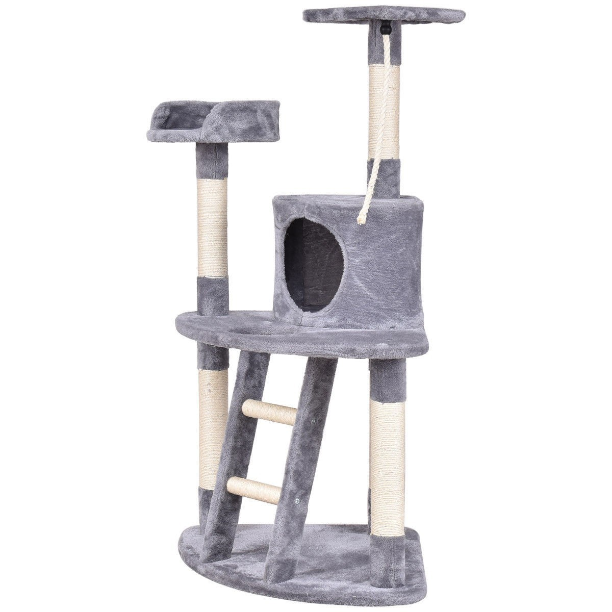 "48"" Activity Tower Perches Scratching Posts Cat Tree Gray by"