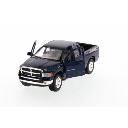 2002 Dodge Ram Quad Cab Pick Up Truck, Blue - Maisto 31963BU - 1/27 Scale Diecast Model Toy Car (Dodge Model Kits Trucks)