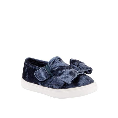 Toddler Shoe Brands - Toddler Girls Wonder Nation Velour Bow Casual Shoes