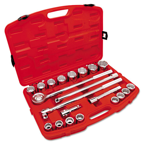 21 Piece Mechanics Tool Sets, 3/4 in, SAE