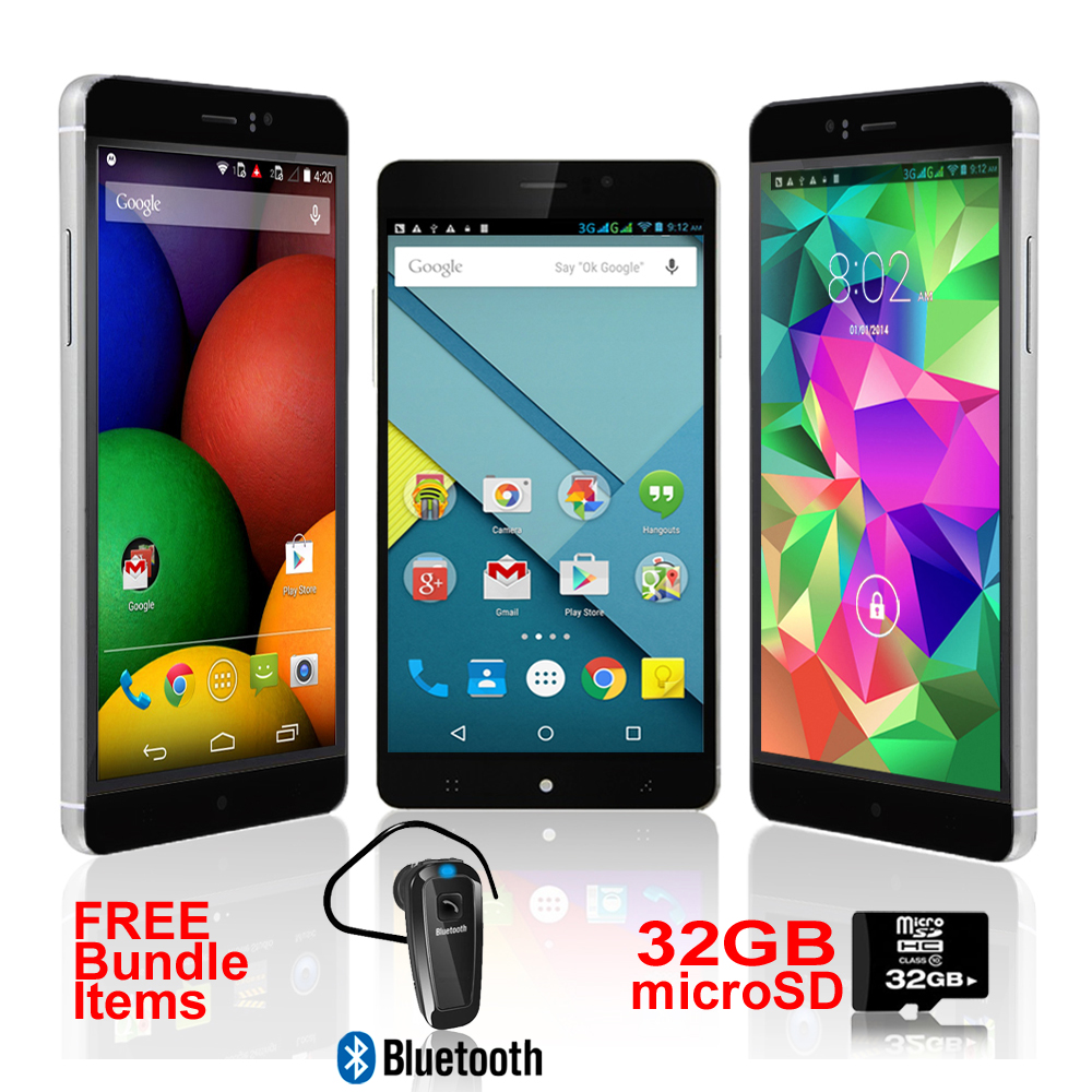 Indigi® 6.0in 3G Smartphone Android 5.1 WiFi + Google Play Store (AT&T T-Mobile Unlocked) w/ Bundled Items Included