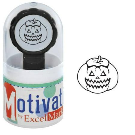 Motivations Pre-inked Teacher Stamp - Jack O Lantern - Black Ink ()