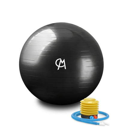 CHICMODA Exercise Ball (Multiple Sizes) Extra Thick Yoga Ball Chair, Anti-Burst Heavy Duty Stability Ball Supports 2200lbs, Birthing Ball with Quick Pump (Office & Home &