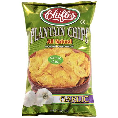 Chifles Plantain Garlic Chips, 5 oz