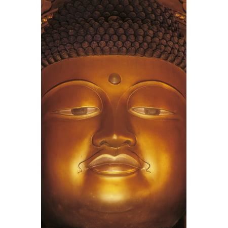 Hawaii Windward Oahu Valley Of The Temples Byodo Inn Close-Up Of Buddha Statue Canvas Art - Greg Vaughn  Design Pics (22 x