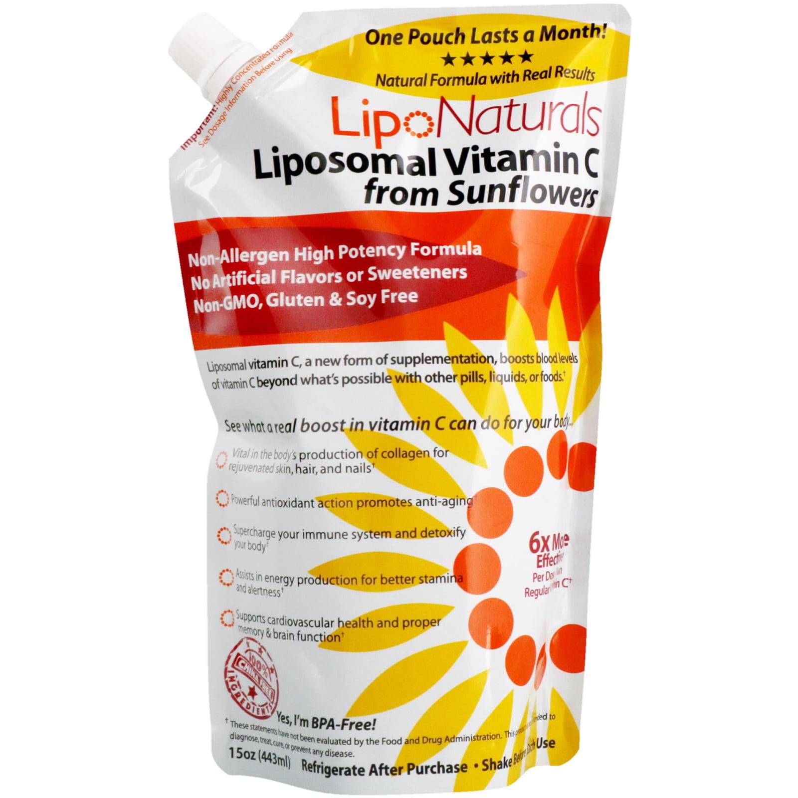 Lipo Naturals Liposomal Vitamin C From Sunflowers 15 oz 443 ml