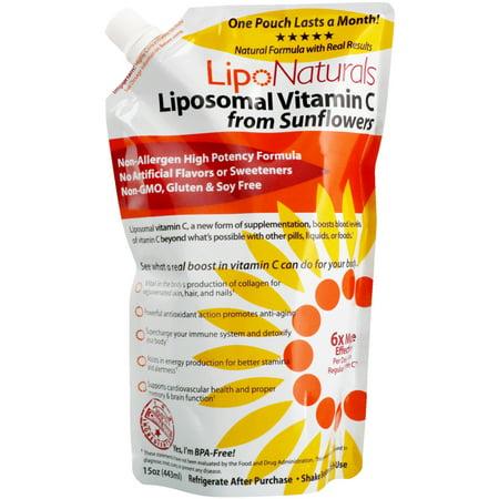Lipo Naturals  Liposomal Vitamin C From Sunflowers  15 oz  443