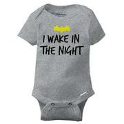 Wake In Night Funny Batman Edgy Lego Cool Baby DC Comic Cute Gerber Onesies