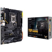 ASUS TUF GAMING Z490-PLUS (WI-FI) ATX gaming motherboard with M.2, 14 DrMOS power stages, Intel WiFi 6, HDMI, DisplayPort, SATA 6 Gbps, USB 3.2 Gen 2 ports, and Aura Sync RGB lighting