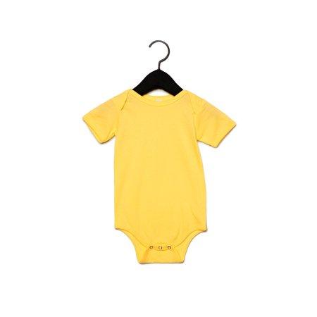 100B Baby Short Sleeve Onesie By Bella + Canvas Bella Short Sleeve Onesie