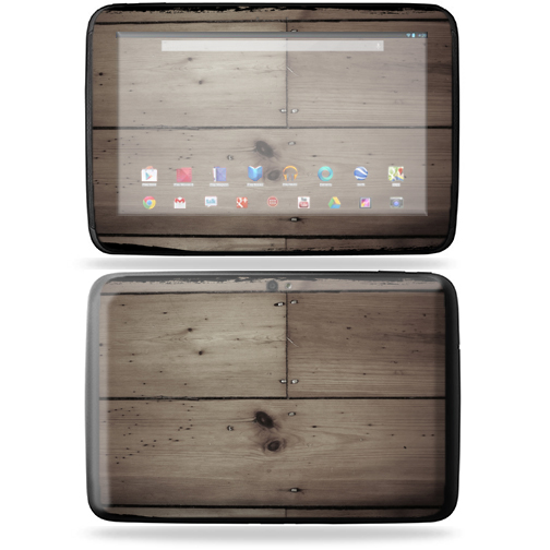 "Mightyskins Protective Skin Decal Cover for Samsung Google Nexus 10 Tablet with 10"" screen wrap sticker skins Wooden"
