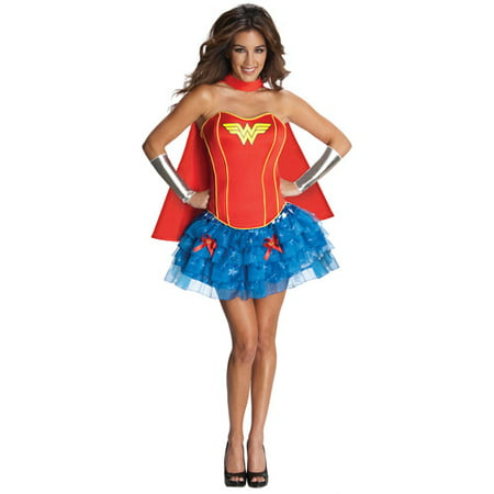 Wonder Woman Flirty Adult Halloween Costume - Adult Wonder Woman Halloween Costume