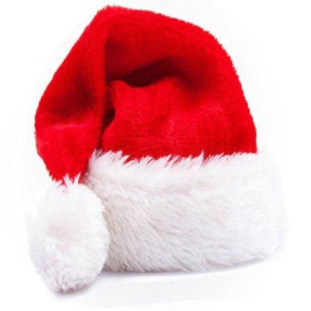 Christmas Plush Thick Ultra Cap Soft Santa Claus Holiday Fancy Dress Hat