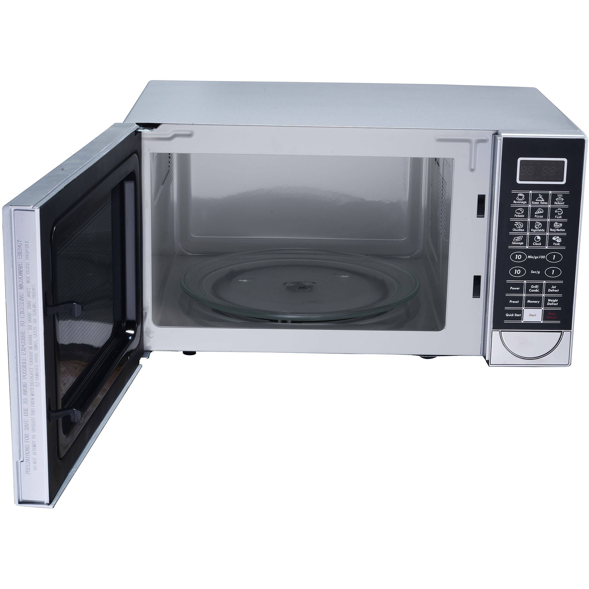 RCA 1.1 cu ft Design Microwave with Grill Feature, Stainless Steel