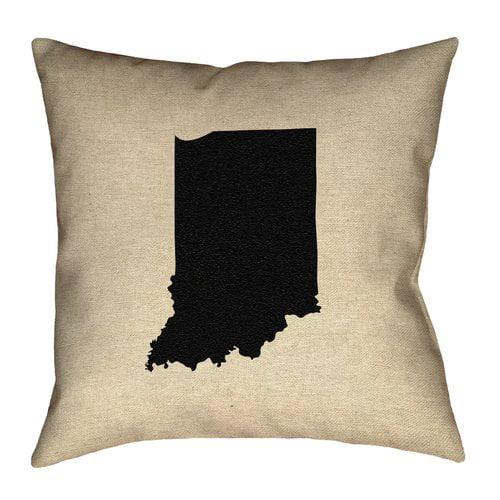 Ivy Bronx Genibrel Indiana Canvas Pillow