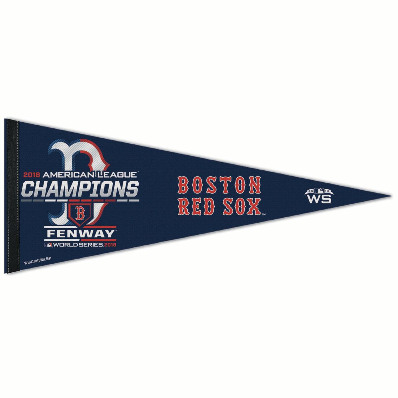 "Boston Red Sox WinCraft 2018 American League Champions On-Field Locker Room Celebration 12"" x 30"" Pennant - No Size"