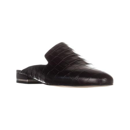 Womens Natasha Flat Slide Mules, Black, 5.5 US / 35.5 (Michael Kors Charm Flats)