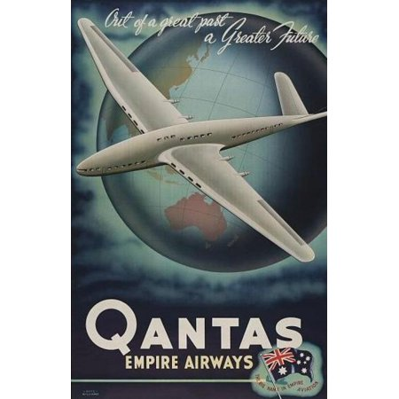 Qantas Empire Airways The Big Name In Empire Aviation Canvas Art - (36 x 54)