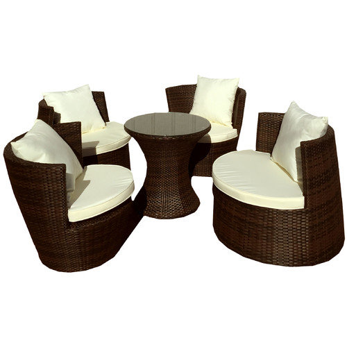 Deeco Geo Vase 5 Piece Lounge Seating Group with Cushion