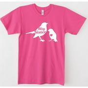 Rocket Bug  Toddler's Pink Big Sister Bird Shirt