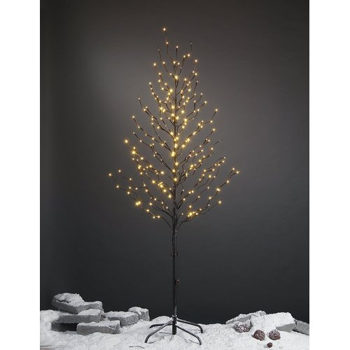 Lightshare 6FT Starlight Tree brown branch with 240 warm white lights