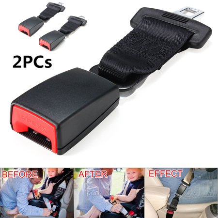 E11 Safety Certified Seat Belt Extension for Universal Car Vehicle 2nd Row Window Seats Black 9 Inches Seat Belt Strap Extender Extension Buckle (2-Pack) froom Kadell Nova Seat Belt Buckle