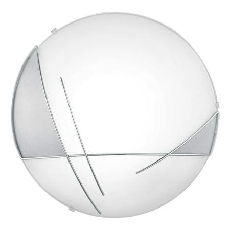 Eglo 1x60w Ceiling Light W/ Chrome & Satin Finish & Clear & White Paint Design - 89758A Satin Chrome 3 Light
